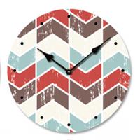 """Годинник настінний """"ZigZag"""" (29 см. МДФ, полотно), фото 1"""