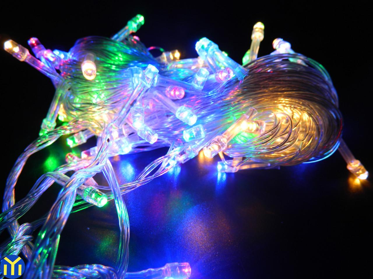 Гирлянда новогодняя нить, Разноцветная, 200 LED, 16м.