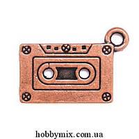 """Метал. подвеска """"касета"""" медь (2,4х1,3 см) 5 шт в уп."""