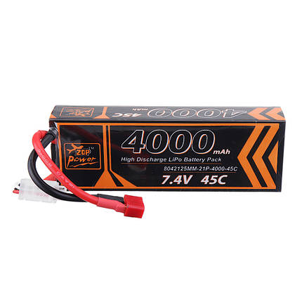 ZOP Power 7.4V 4000mAh 45C 2S Lipo Батарея T Plug для RC Авто - 1TopShop, фото 2