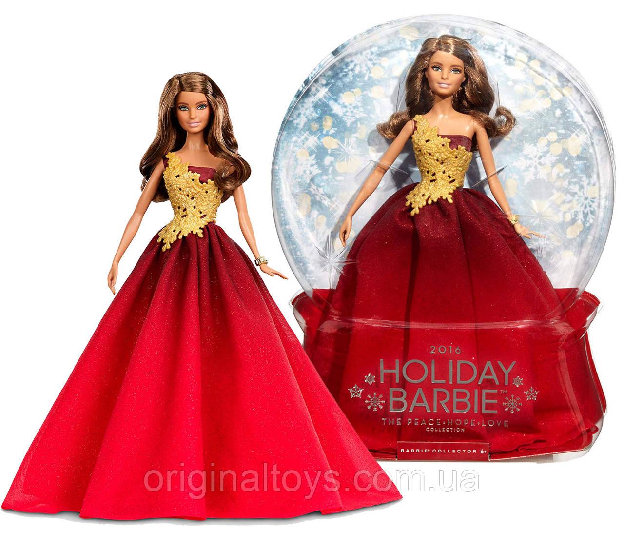 Колекційна лялька Барбі Святкова в червоному платті Barbie Holiday Red Gown 2016 DRD25