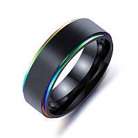 Модная черная титановая сталь Простой стиль Colorful Покрытие Мужское пальто Кольцо с подарком на День святого Валентина -1TopShop