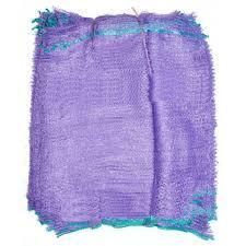 Сетка овощная 30х47 см - 10 кг. фиолетовая с завязками для упаковки овощей.