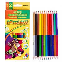 Набор цветных карандашей Пегашка, 24 цв.