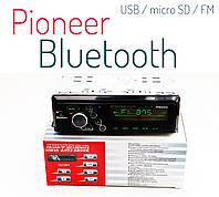 Автомагнитола с флешкой с блютузом \ Bluetooth - Pioneer - USB / micro SD / AUX / FM, фото 1