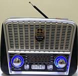 Радіоприймач з сонячною панеллю Golon в стилі Ретро, фото 5