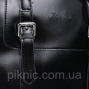Сумка Рюкзак женская кожаная. Сумочка из натуральной кожи. 26*28*13 Черный, фото 2