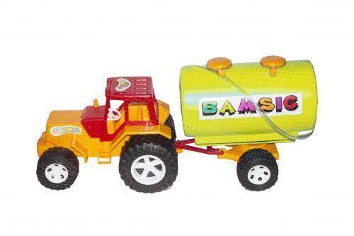 Трактор с цистерной (желтый) 007-3