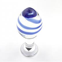 Анальная пробка стеклянная BLUE DREAM, фото 2