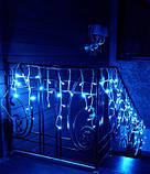 Гирлянда Бахрома тёплый холодный синий мульти, фото 2