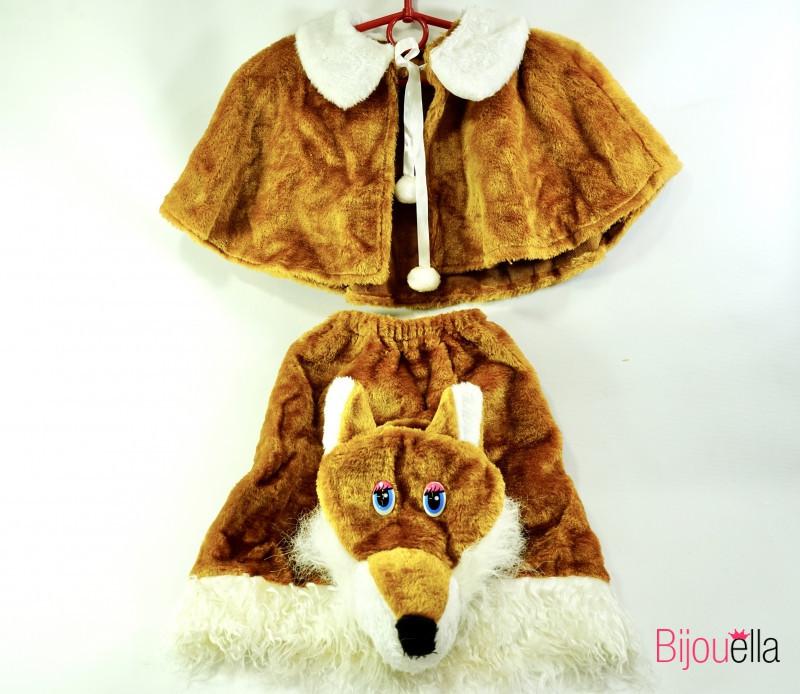Новогодний костюм Лисы для девочки костюм лисички