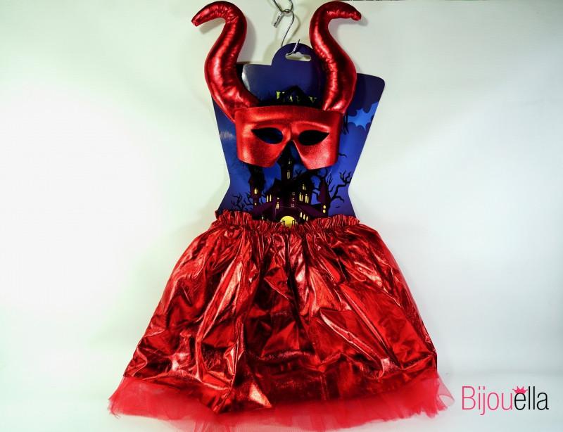 Детский костюм Малефисенты красный комплект