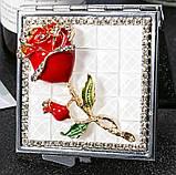Зеркало карманное Роза арт 3, фото 2