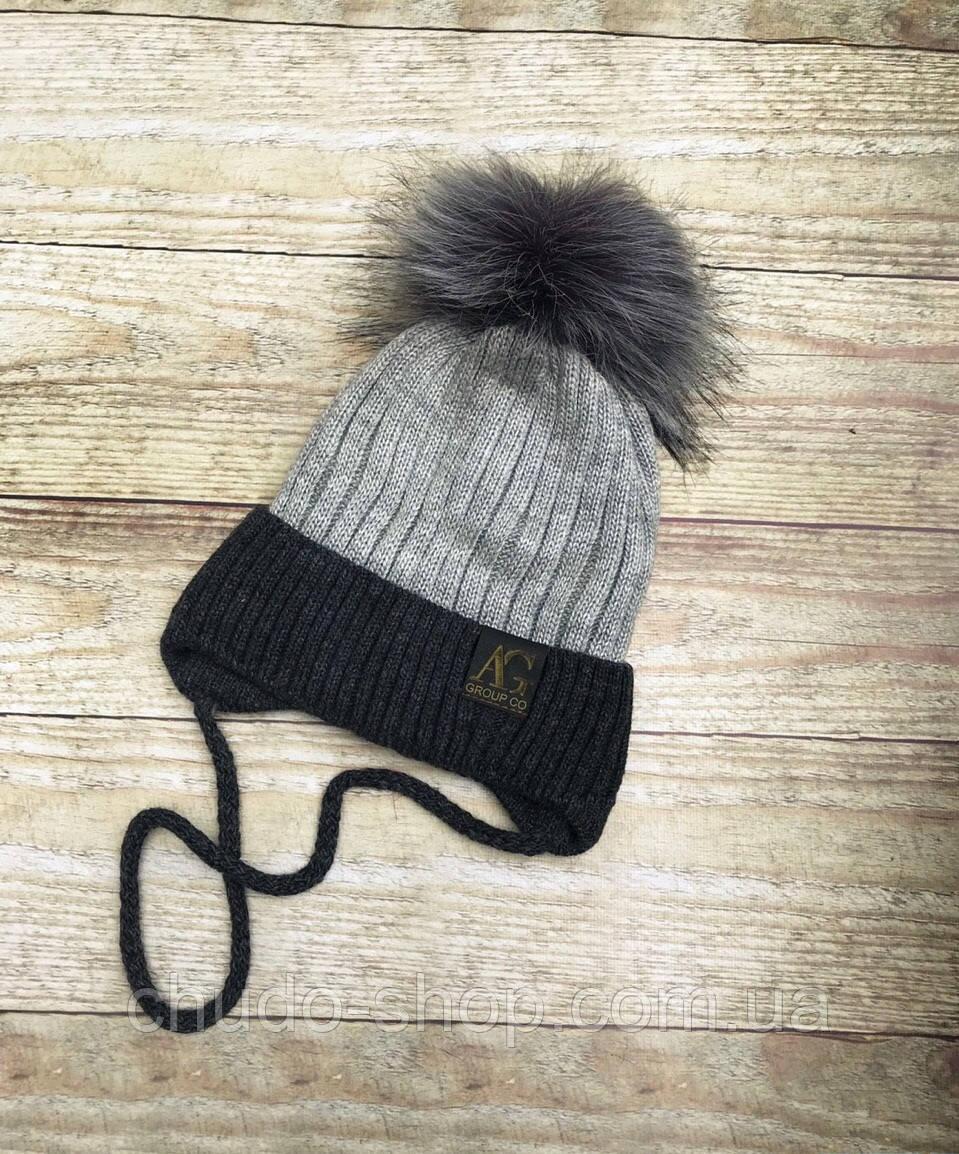 Детская шапка для мальчика (размер 46-50)