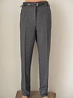 Классические женские теплые брюки, полная длина, с поясом в комплекте р.50 код 2742М
