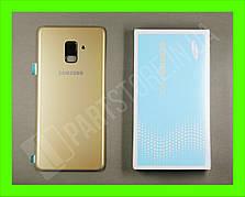 Cервисная оригинальная задняя Крышка Samsung A730 Gold A8 Plus 2018 (GH82-15629C)