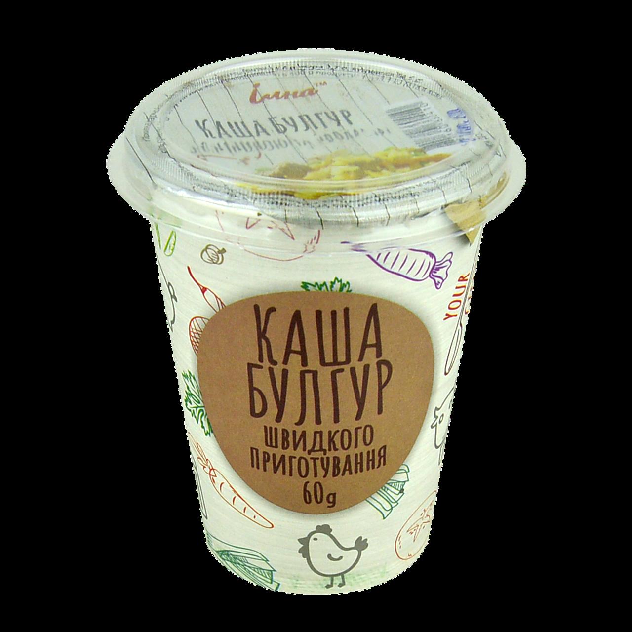 Каша ІЛНА Булгур з грибами і овочами 60 гр, ящ/10шт