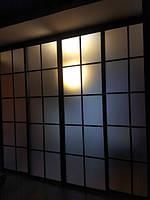 Межкомнатная стеклянная перегородка в японском стиле, фото 1