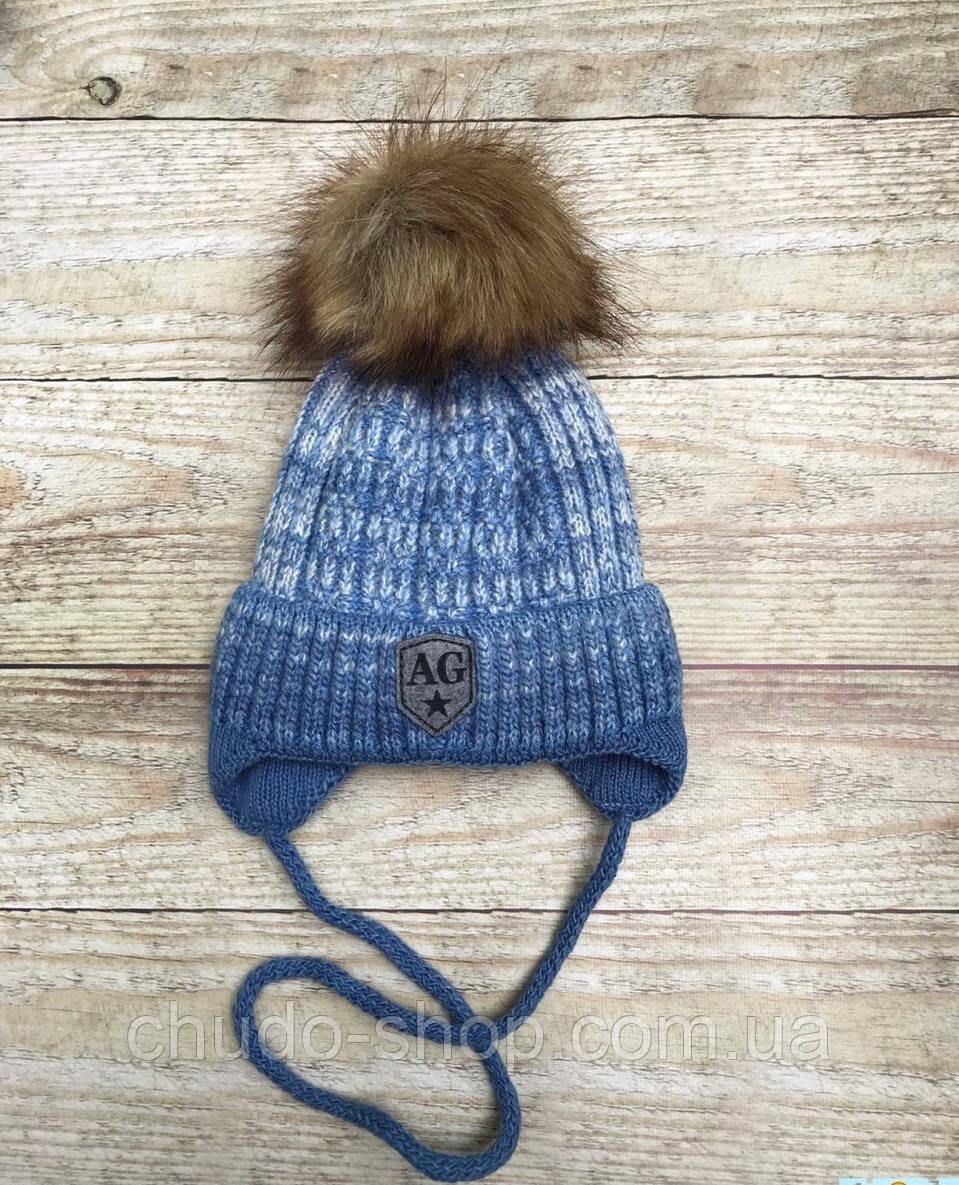 Детская шапочка для мальчика ( размер 46-48)
