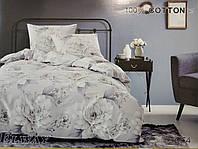 Сатиновое постельное белье евро ELWAY 5064 «Розы»