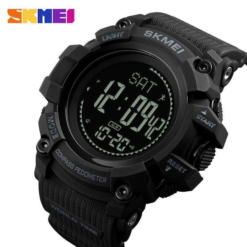 Спортивні годинник Skmei 1356 Compass з компасом тактичні удароміцні