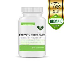 Лецитин в капсулах Lecithin 98% фосфоліпідів EnvieLab 120 капсул