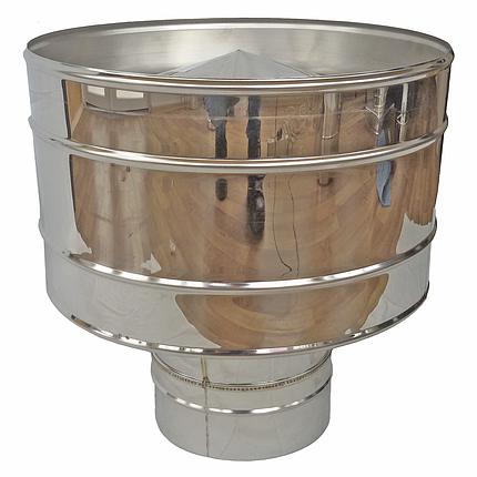 Дефлектор (волпер) для дымохода 160 мм из нержавеющей стали «Версия Люкс», фото 2