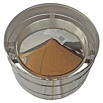 Дефлектор (волпер) для дымохода 160 мм из нержавеющей стали «Версия Люкс», фото 3