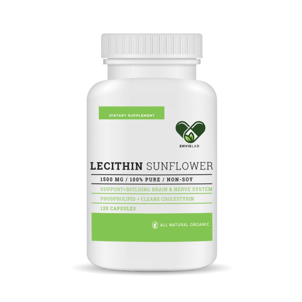 Лецитин соняшниковий в капсулах Lecithin 98% фосфоліпідів EnvieLab
