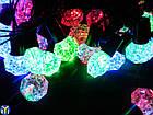 Гирлянда новогодняя нить, Кристаллы Разноцветные, 40LED, 5м., фото 2