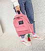 Рюкзак женский вельветовый городской Traveling Розовый, фото 2