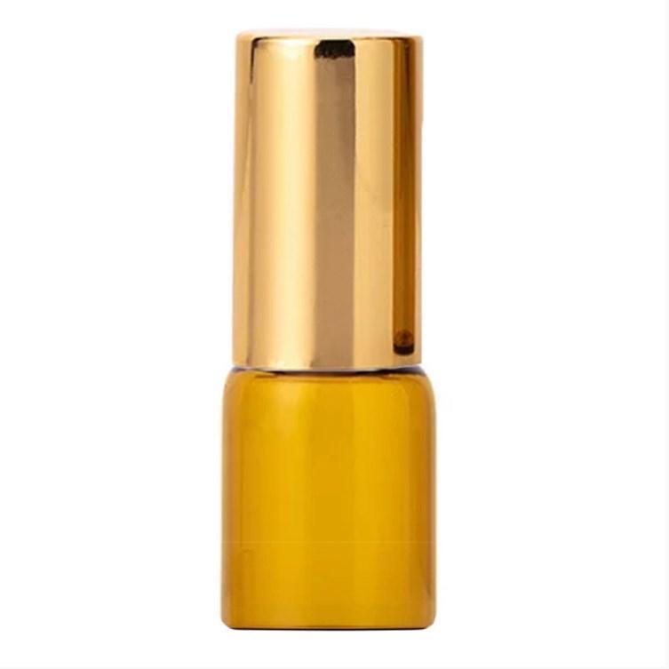 Скляний флакон (з кулькою +золотистої кришка) 2 мл парфумів флакон для парфумерії-ролер
