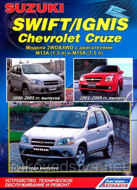 Книга Suzuki Swift 2001-2005 Руководство по ремонту, эксплуатации и обслуживанию