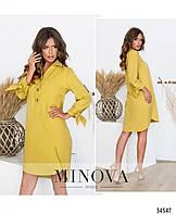 Женское платье горчичного цвета, фото 1
