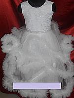 """Детское нарядное платье  """"ОБЛАКО"""" для девочки 4-7 лет, фото 1"""