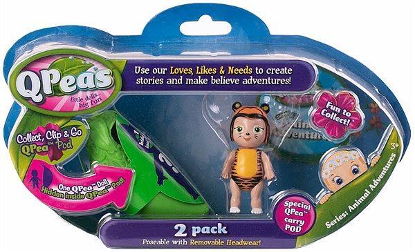 Игровой набор Приключения животных 2 фигурки: Tilley и куколка-сюрприз в стручке. QРeas QР003-4