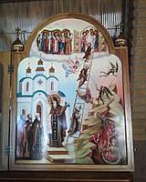 Икона храмовая писаная Святой Иоанн Лествичник. Лествица восходящая к небесам.