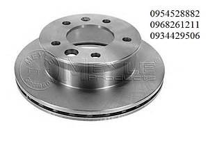 Гальмівний диск задній (258х12мм) Mersedes Sprinter 208-416 1995-2006 т колодок гальмівних передніх (Німеччина) 0155232035