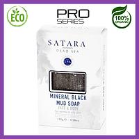 Минеральное черное грязевое мыло для лица и тела с восстанавливающим эффектом, 130 г, Satara Dead Sea