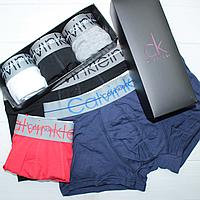 Мужские брендовые трусы Calvin Klein в подарочной упаковке набор 3 шт реплика