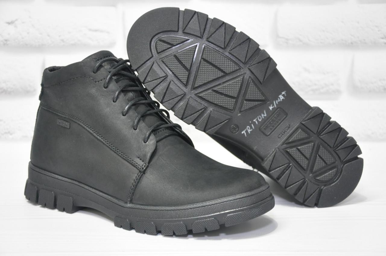Мужские зимние ботинки натуральная кожа и натуральный мех Triton eD-Ge
