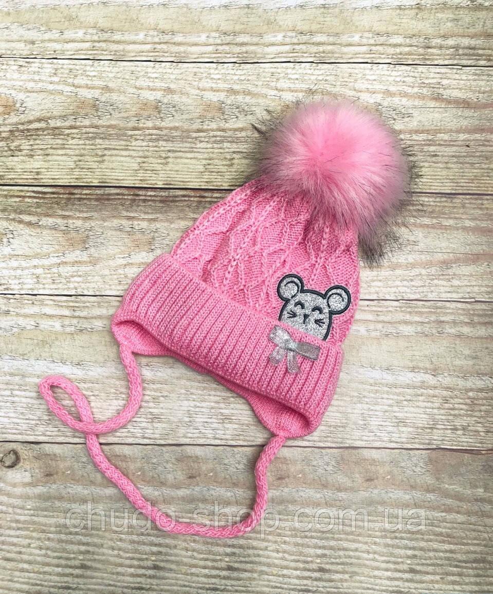 Детская шапочка для девочки  (размер 44-48 см)