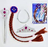 Карнавальный костюм Анны, 3 предмета: коса, жезл, корона