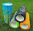 Массажер валик, ролик массажный для спины и йоги MS 0857-1 (4 цвета), фото 6