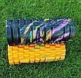 Массажер валик, ролик массажный для спины и йоги MS 0857-1 (4 цвета), фото 8