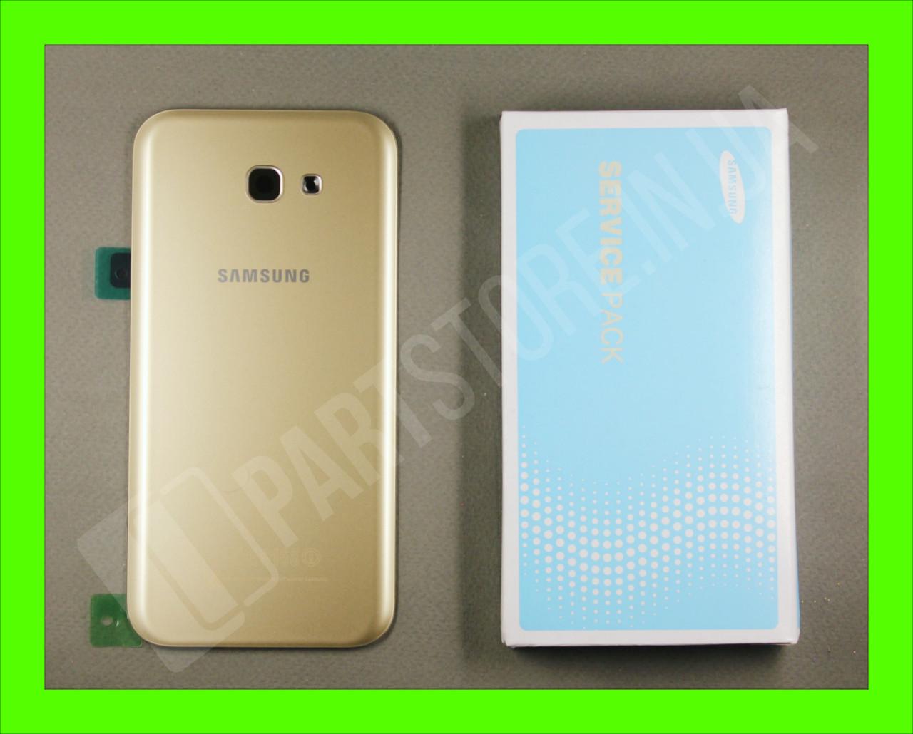 Cервисная оригинальная задняя Крышка Samsung A720 Gold A7 2017 (GH82-13679B)