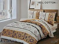Сатиновое постельное белье евро ELWAY 5076 «Абстракция»