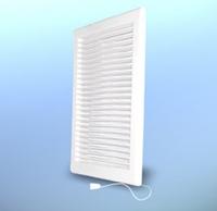 Решетка вентиляционная настенная, прямоугольная,пластик. с механическими жалюзи DOSPEL DL/90х240 Z