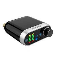 Аудио усилитель Miniampl TPA3116 2x50Вт, Bluetooth 5.0 \ AUX \ USB, индикаторы аудиосигнала