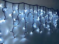 """Уличная LED гирлянда Бахрома """"Icicle"""" 10 метров Белая, 200 Ламп черный провод каучук пвх, 8 режимов"""
